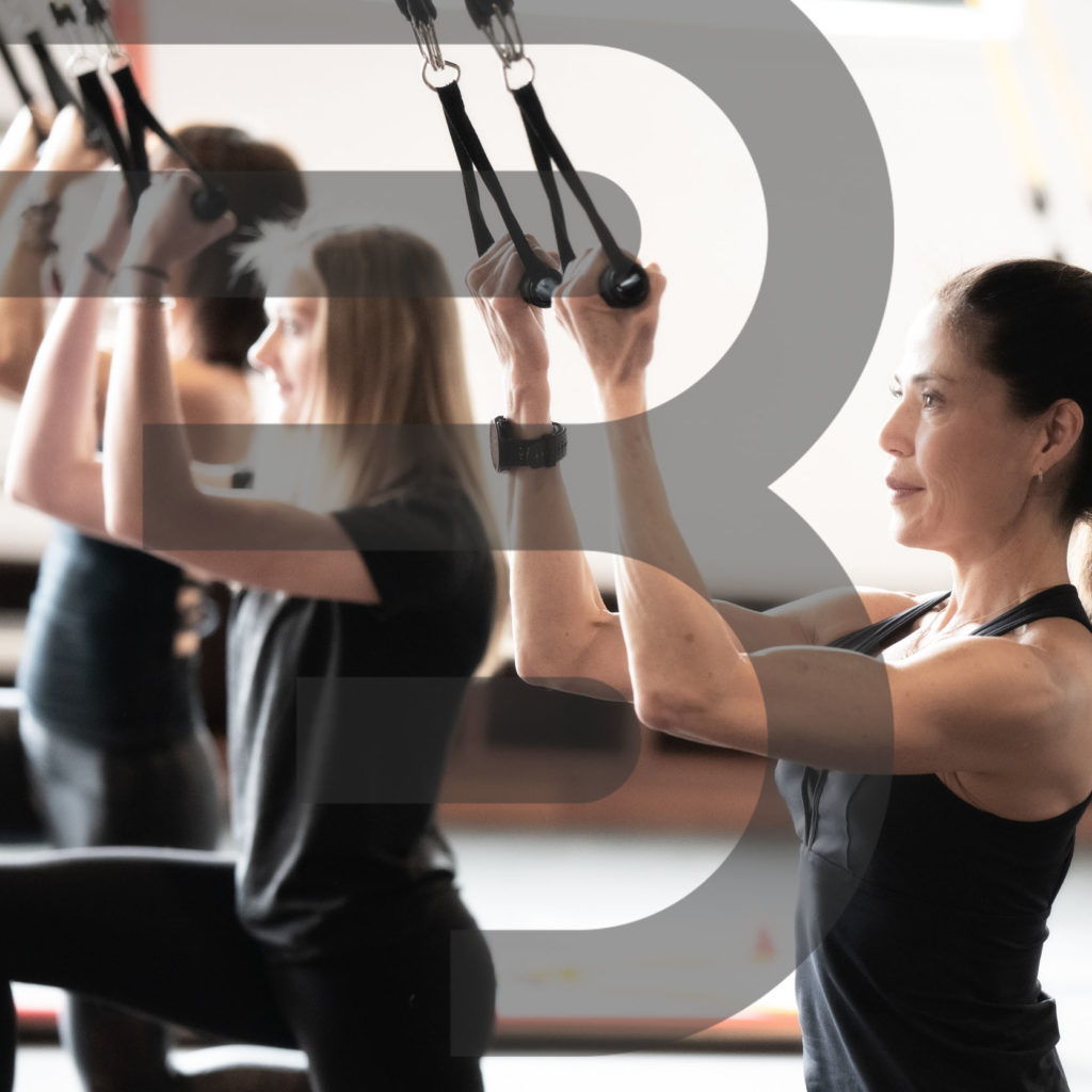 women working out using BOARD30 resistance skybands